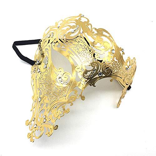 ner Einäugige Halb Maske Venezianische Masquerade Karneval Partei Bar Nachtclub Metall Maske Herren Hollow Augenmaske ()