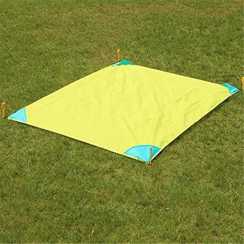 Giow Kleine Ball Teppich Ultraleicht Outdoor Camping Matte Picknickdecke Teppich Wasserdicht Schaum Strand Matratze Pad Schlafmatte Camping Matte Zeltpolster 140 x 200 cm, F, 140X180CM