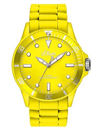 s.Oliver Damen-Armbanduhr Analog Quarz Silikon SO-2741-PQ