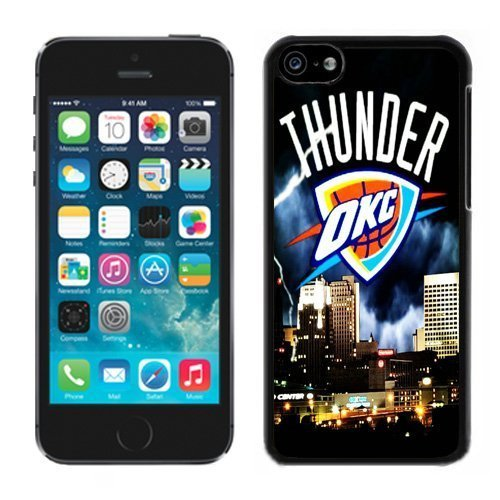 Customized iPhone 5C Cover Case okc thunder Cell Phone Cover Case for Iphone 5c Black