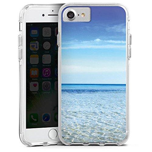 Apple iPhone 8 Bumper Hülle Bumper Case Glitzer Hülle Horizont Meer Mer Bumper Case transparent