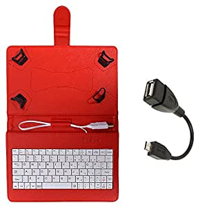 Stavix Red 7inch Tablet Keypad Case with OTG Cable for Asus zenpad 7 Z170C