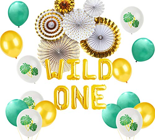 od Wild One Luftballons Jungle One Cake Topper Safari Jungle Erster Geburtstag Dekoration Safari Luftballons Jungle Baby Shower Dekorationen ()