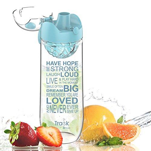 Artoid Mode Trinkflasche mit Einsatz   1l   Wasserflasche mit Fruchteinsatz/Sieb   Tritan Flasche, BPA frei, auslaufsicher   Sportflasche für aromatisiertes Wasser, ideal für Yoga, Reise & Sport - Damen-flasche