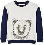 RED WAGON Jungen Sweatshirt mit Bären-Druck, Mehrfarbig (Grey/ Navy), 146 (Herstellergröße: 11 Jahre)