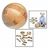 Cisixin Luban Hölzernen Sperre Spielzeug,Runden Puzzle Spielzeug