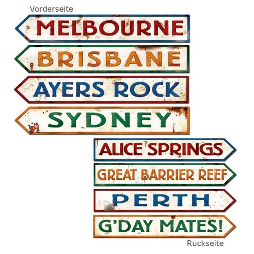 Outback Rock Weekend Critter CROSSING SIGN Einbauöffnungen 4Stück, Papier, mehrfarbig, Einzelpackung
