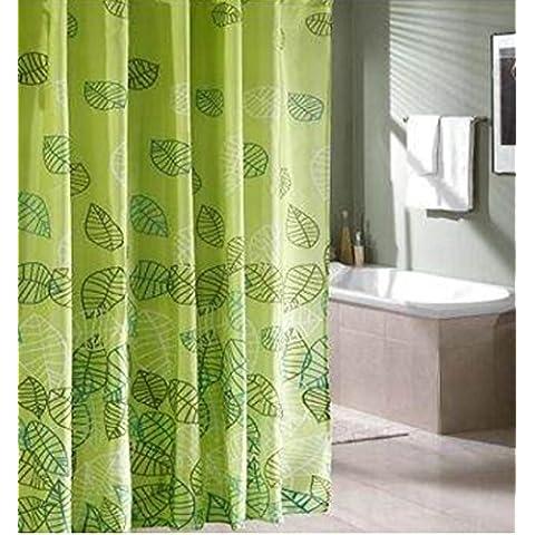 GYMNLJY fibra di poliestere impermeabile muffa tenda doccia Spesso Doccia Blackout Bagno Doccia cortina di tagliare Hanging tenda , 2 ,