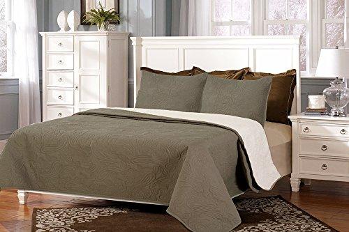 Couvre-lits boutis réversible à carreaux BEGUR 250x260+2 cuadrantes (para cama de 150/160/180) blanc