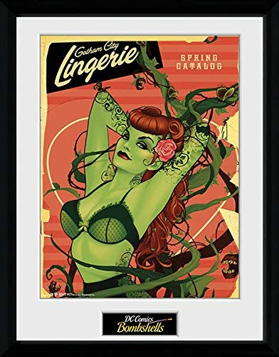 Dc Comics Poison Ivy Bombshells - Montiert & Gerahmter Druck - 44 X 34 cm ( Ca. 18 X 14 Inches) (Poison Ivy-bombshell Poster)