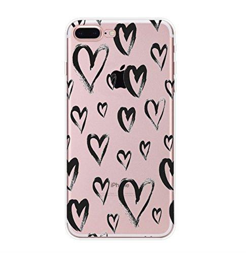 Incendemme Handycase Handyhülle Schutzhülle Handytasche Case Back Für iPhone TPU Queen Cool Kreativ Apfel Slim Transparent Original (iPhone 7 Plus, Heart) Heart