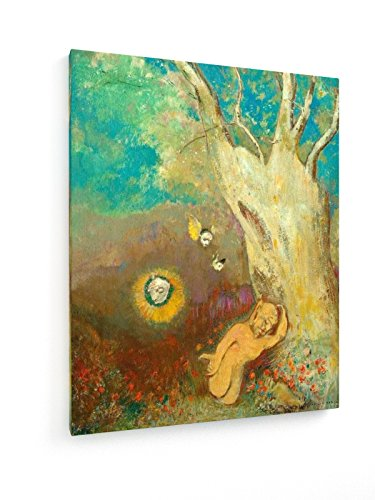 Odilon Redon - Shakespeare, Tempest - 40x50 cm - Textil-Leinwandbild auf Keilrahmen - Wand-Bild - Kunst, Gemälde, Foto, Bild auf Leinwand - Alte Meister / Museum