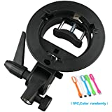 Godox S-type Bracket Bowens S Mount Holder for Speedlite Flash Snoot Softbox Honeycomb + HuiHuang free gift