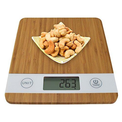 Digitale Smart Weigh Küchenwaage aus Bambus - 5