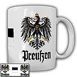 Preußen Fahne Adler Wappen Emblem scharz weiß Preußenadler Preuße Alter Fritz Deutschland Friedrich der Große - Kaffee Becher Tasse Cup Mug #18703