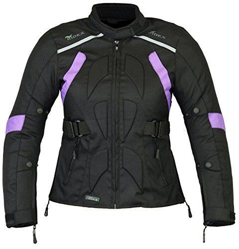 RIDEX CJ9P Ladies Women Motorbike Motorcycle Waterproof Textile Cordura Jacket (M(12))