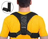 Haltungskorrektur Geradehalter Schulter Rücken Haltungsbandage mit verstellbare Größe für Damen und Herren mit Zwei Schutzpolster (L / 93-115cm)