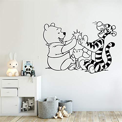 wandaufkleber baum foto Winnie The Pooh Wandtattoo Tigger Ferkel Cartoon Aufkleber Kinderzimmer Dekor Babys Schlafzimmer Wandtattoos