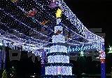 SUGER-LIGHT Netz LichtLichterkette Net Schnur Weihnachten Geschenk Lampe Licht Ketten Vorhang weiß 2m *2m 144LED (drinnen und draußen) Festival Dekorativ Beleuchtung Gart