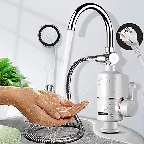Preisvergleich Produktbild 3000W Instant Warmwasserhahn Tankless Elektrischer Wasserhahn Küche Instant Hot Wasserhahn Warmwasserbereiter Warmwasserbereiter Digitalanzeige 220 V