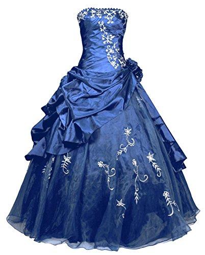 Kaiserin Sissi Kostüm - FairOnly R37 Frauen Trägerlosen Abendkleid Ballkleid
