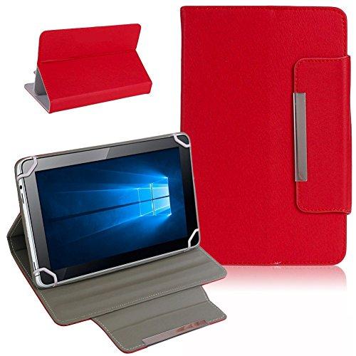 Tablet Schutz Tasche Hülle für ARCHOS 101b Xenon Case Cover Universal Bag NAUCI, Farben:Rot