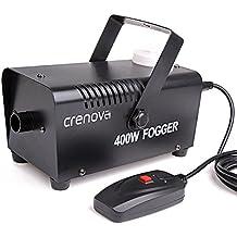 Máquina de Niebla, Crenova FM-02 Máquina de Niebla 400W Máquina de Humo + Control Remoto Equipo Escénico para Bodas Teatro Fiestas Club DJ Efectos.