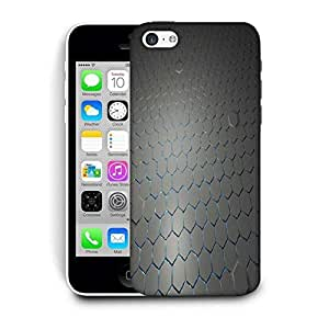 Snoogg Gray Hexagons Printed Protective Phone Back Case Cover For Apple Iphone 6 / 6S