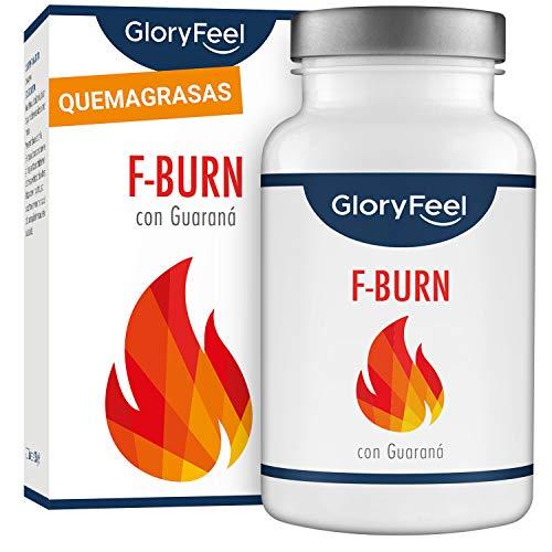 GloryFeel® F-BURN Cápsulas quemagrasas - Té verde más café verde y extracto de guaraná - 120 cápsulas veganas para adelgazar - Probado en laboratorios - Sin aditivos y fabricado en Alemania