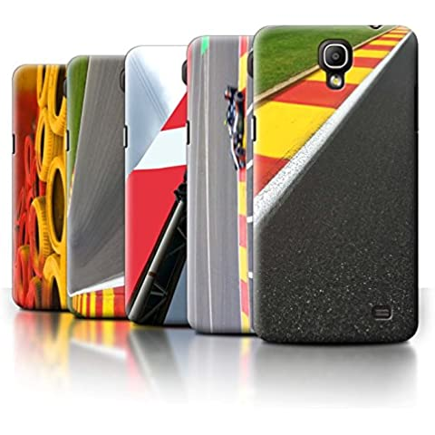 Carcasa/Funda STUFF4 dura para el Samsung Galaxy Mega 2 / serie: Pista Carreras Foto - 5pcs Paquete