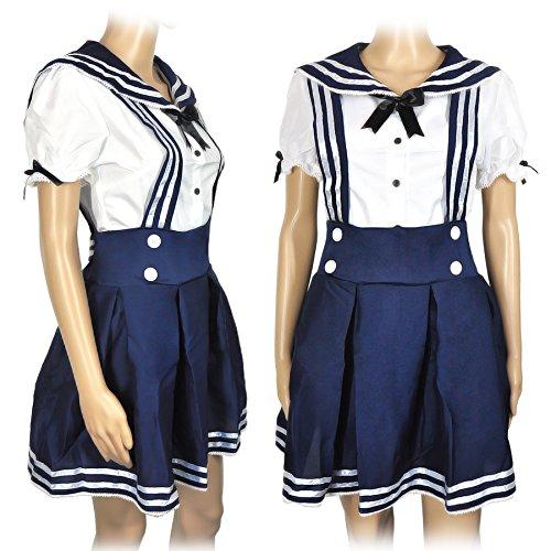 chulmädchen Uniform, Blau, Größe: L (Anime-kostüme Für Frauen)