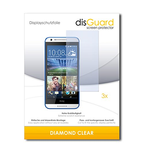3 x disGuard® Schutzfolie HTC Desire 620G Dual Sim Displayschutz Folie