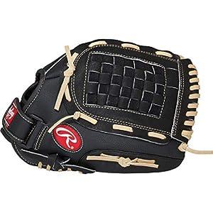 RAWLINGS PM115BCB Baseballhandschuh für Linkshänder, 11,5 Inch, Schwarz