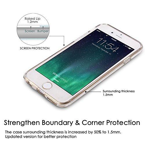 """iPhone 7 Hülle, Landee Transparent Weiche Silikon Schutzhülle für iPhone 7 (4.7"""") -- Dinosaur Unicorn"""