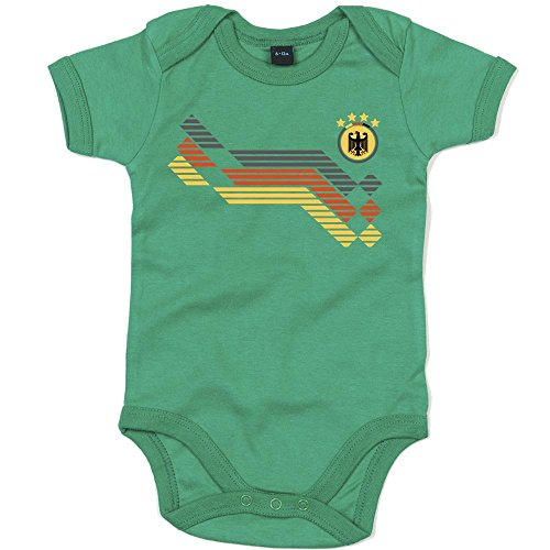 Deutschland Weltmeisterschaft 2018#31 Premium Babybody Fan Trikot Fußball Weltmeisterschaft Nationalmannschaft Mädchen Kurzarmbody, Farbe:Grün (Kelly Green BZ10);Größe:12-18 Monate