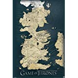 Game of Thrones : La Carte des Sept Royaumes de Westeros Poster Grand Format 91.5 x 61 cm