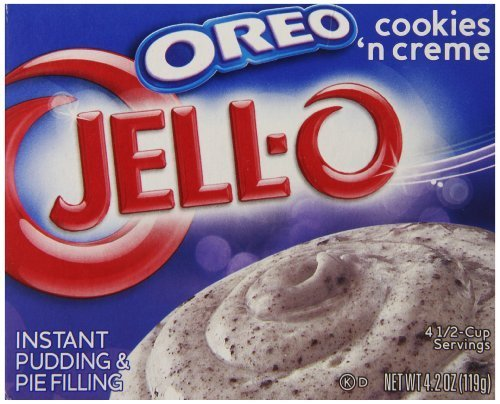 Jell-O Instant Pudding and Pie Filling, Oreo Cookies 'n Cream, 4.2-Ounce Box (Pack of 6) by JELL-O -
