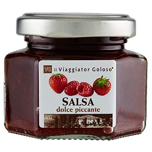 Il Viaggiator Goloso Salsa Dolce Piccante di Fragole e Lamponi - 120 g