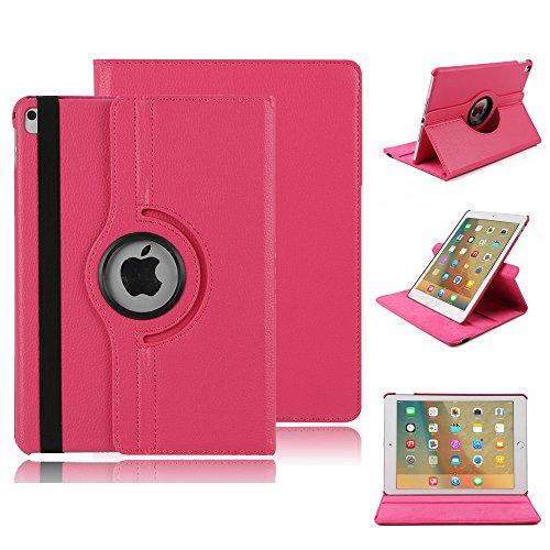 Hp-mixer (elecfan JP-IPAD6-360LZW-HP Tablet-Schutzhülle, Apple iPad Air 2, hot pink, Stück: 1)