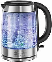 Russell Hobbs 21600-57 Glass Su Isıtıcı, 2200 W, 1.7 lt, Paslanmaz Çelik Aksamlı Cam, Gümüş