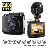 IceFox DashCam Autokamera DVR Dashboard-Kamera Rekorder mit 4K FHD, eingebautes WiFi & GPS, APP- Support, G-Sensor, 2.4″ LCD-Display 150