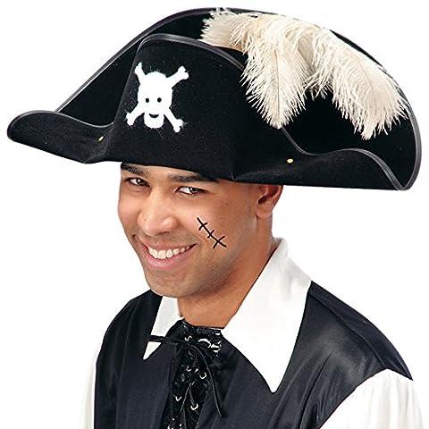 CARNIVAL TOYS S.R.L., chapeau de pirate AVEC BIFLOCCATO