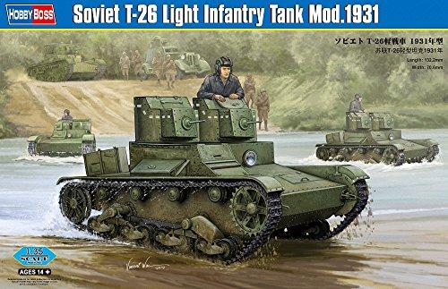 Hobby Boss 82494 Modellbausatz Soviet T-26 Light Infantry Tank Mod 1931