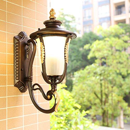 AJZGFApplique Lampe de mur de protection solaire extérieure imperméable à l'eau européenne Balcon américain passerelle de marche escalier lampe murale Applique murale (Couleur : En haut)