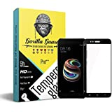 Gorilla Guards HD+ Black Bezled 3D Tempered Glass Screen Protector For Xiaomi Redmi MIA1 (Pro Series) 8H Hardness, Oelophobic, UV Protect, 2.5D Rounded Edges, Neo Coated, Free Instalation Kit, BEST DEAL! (04-Black-Redmi-MIA1-pro)