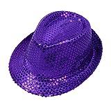 Leisial. Gorra de Disfracez Sombrero de Jazz Lentejuelas Sombrero de Fiesta Baile Rendimiento Otoño Verano para Niño Adulto Unisex (Color 7 - Adulto)