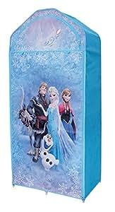 FUN HOUSE 712547- Guardaroba con mensola per bambino in tessuto, motivo: La regina del ghiaccio, dimensioni: 70x 43x 157cm