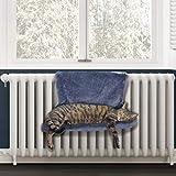 PetPäl Heizkörperliege Kuscheliger Katzenschlafplatz für die Heizung | Das Perfekte Katzenbett mit Liegemulde für die Katze | Heizungshängematte - Der Warme Schlafplatz für Katzen