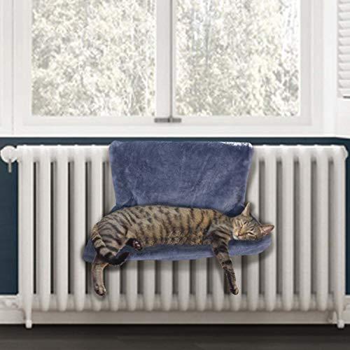 Heizkörperliege von PetPäl   Kuscheliger Katzenschlafplatz für die Heizung   DAS Perfekte Katzenbett mit Liegemulde für die Katze   Heizungshängematte - Der Warme Schlafplatz für Katzen   Einfach an Heizkörper hängen