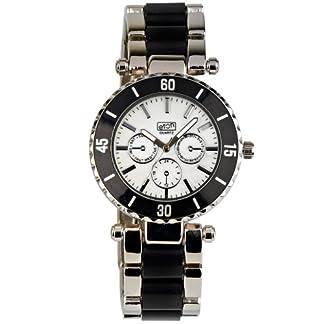 Eton 2937J-BK – Reloj analógico Unisex de Otros Materiales Blanco